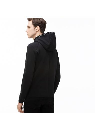 Lacoste Erkek Baskılı Sweatshirt SH0057.57S Siyah